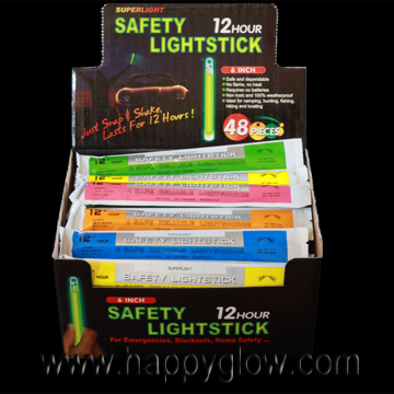 "6"" Premium Safety Light Glow Sticks"